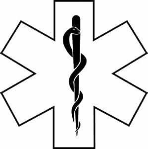 Amazon.com: Medic EMT EMS Symbol Decal Vinyl Window Sticker in Black: Home Improvement
