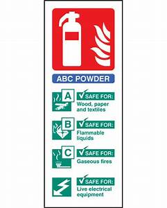 Fire Extinguisher Position Sign (abc Powder) Rigid Plastic