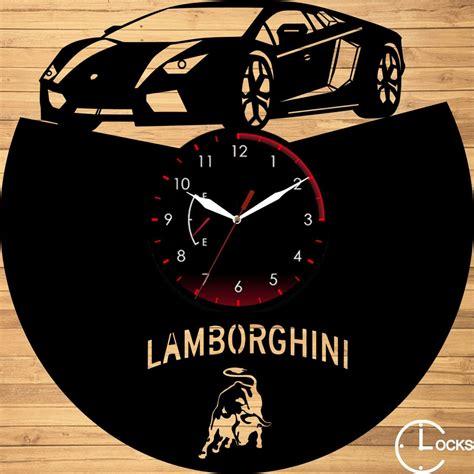 ceas de perete din vinil lamborghini clocks design