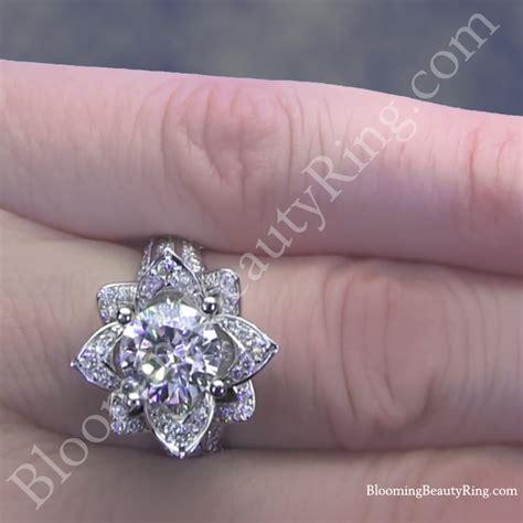 1 78 ctw original large blooming flower ring