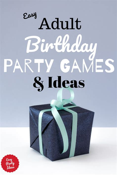 adult birthday party games  ideas