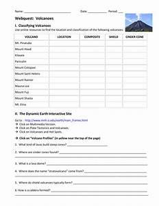 Printables Of Volcanoes Worksheet Answers