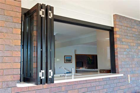 ezi aluminium systems servery bifold window