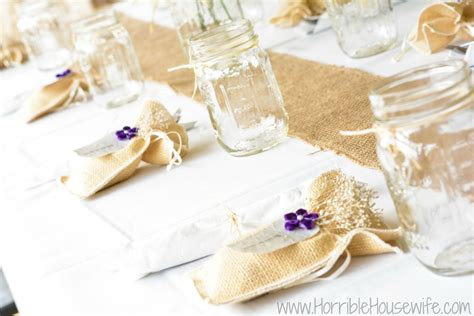 Country Chic Wedding Ideas {burlap And Mason Jars}