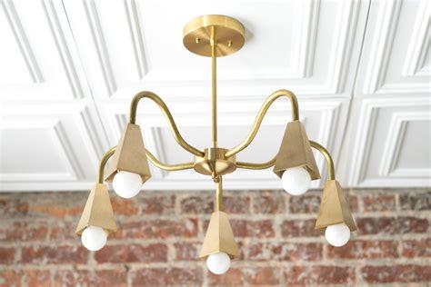 Modern Brass Chandelier by Modern Brass Chandelier Dining Room L Geometric Fixture