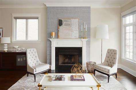 gray fireplace wall  white mantel contemporary