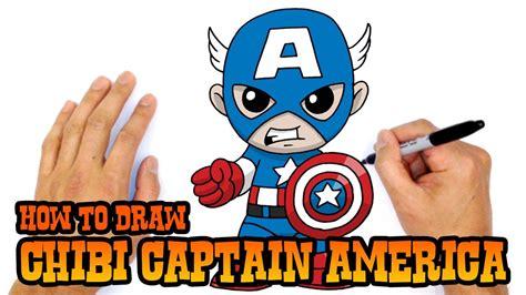draw captain america chibi kids art lesson