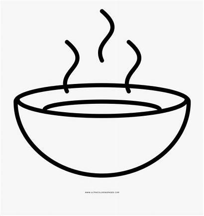 Soup Bowl Coloring Plato Clipart Colorear Sopa