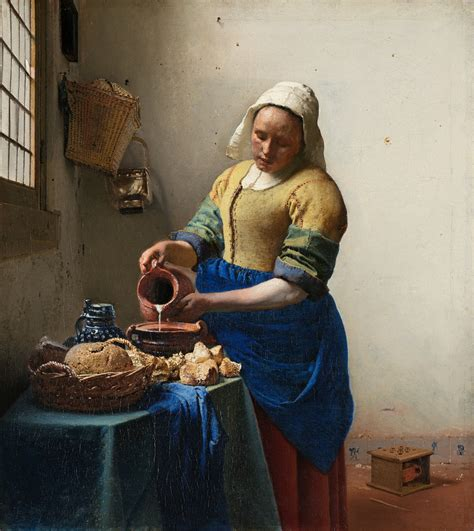 cuisine flamande favourite paintings 13 johannes vermeer the milkmaid c 1658 1661 the eclectic light company