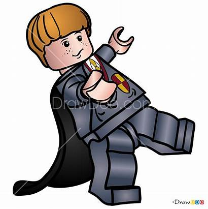 Lego Draw Potter Harry Weasley Ronald Step