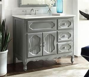 42, Inch, Bathroom, Vanity, Grey, Cottage, Beach, Style, Victorian, Gray, 42, U0026quot, Wx21, U0026quot, Dx35, U0026quot, H, Cgd1509ck42