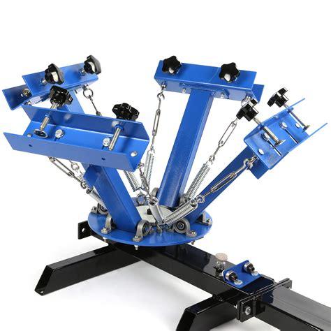 color t shirt printing 4 color 1 station silk screen printing machine t shirt
