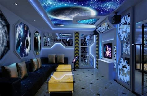Outer Space Bedroom Decor by 20 Kid S Space Themed Bedroom Design Ideas Home Cbf