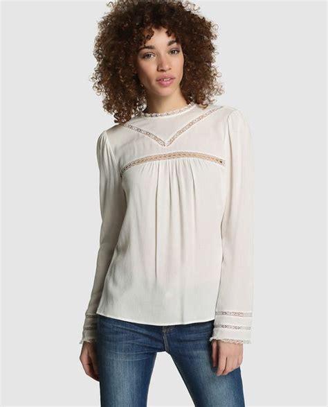 kookai blusa de mujer kookai blanca con lazada blanco 001082235202064036 ihumbgx blusa de mujer kookai blanca con bordado 2016 summer el corte ingles fashion