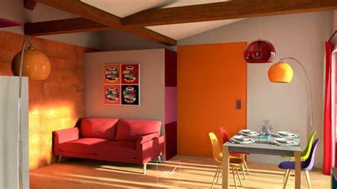 cuisine en orange decoration pour cuisine