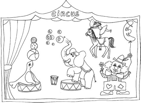 circus coloring pages coloringpagescom