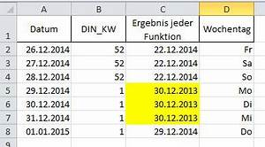 Datum Wochentag Berechnen : aus kalenderwoche das aktuelle datum berechnen office ~ Themetempest.com Abrechnung