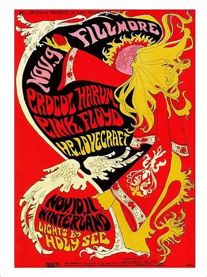 Floyd Concert Poster Psychedelic Procol Harum Framed