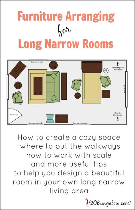 Narrow Rectangular Living Room Layout by Create A Beautiful Space Today In Your Narrow Living