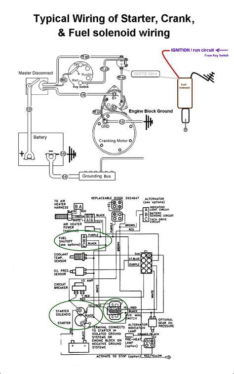 starter solenoid valve wiring diagram get free image