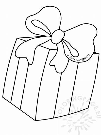 Box Gift Coloring Bow Pages Present Christmas