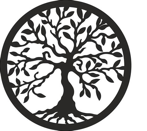 tree of life laser cut vector eps vector file free download 3axis co