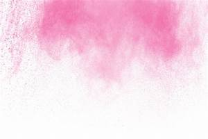 Pink powder explosion on white background. pink dust ...