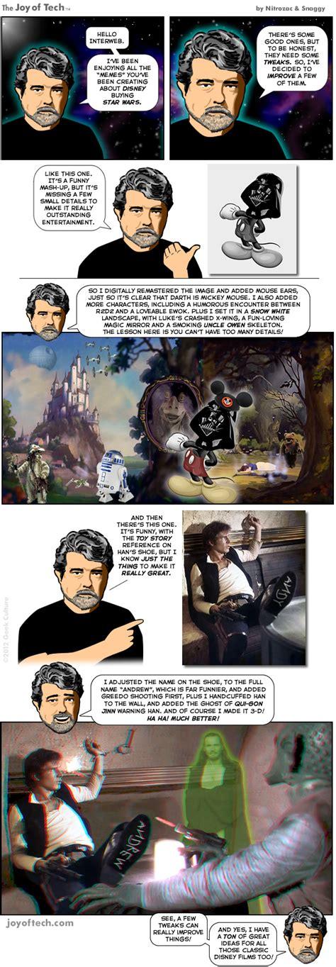 Tweaker Memes - the joy of tech comic george lucas attack of the meme tweaker