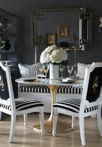 Black And White Dining Room Ideas Black And White Dining Room Eclectic Dining Room The Decorista
