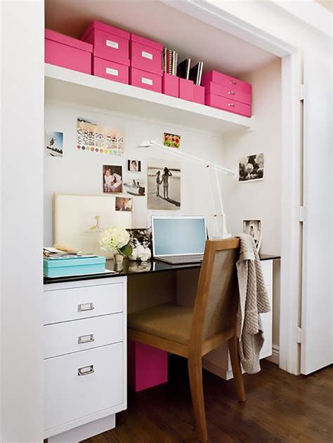 desk in a closet how to carve out a home office tile mountain