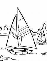 Coloring Water Pages Sailboat Sailing Printable Sail Adult Colouring Boat Ship Template Walks Jesus Comments Clipart Popular sketch template