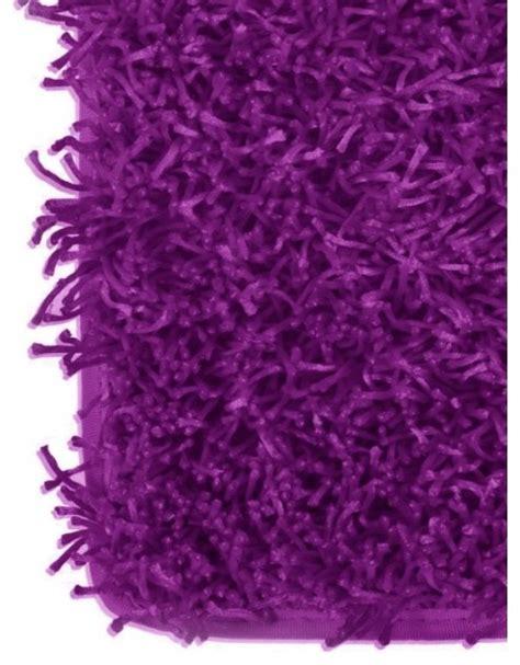purple fluffy rug