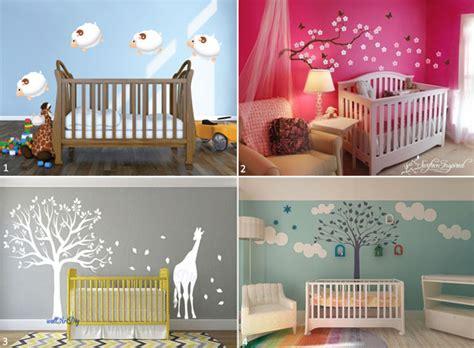 mur chambre bébé couleur mur chambre bebe fille 6 le pochoir mural