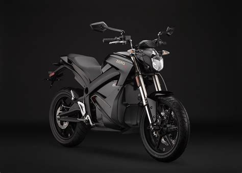 2014 Zero S Electric Motorcycle Black Angle Right