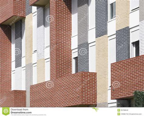 Building Exterior Concrete And Brick Construction Royalty