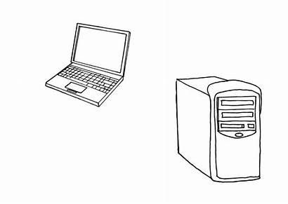 Computer Colorare Computers Colorear Kleurplaat Disegno Dibujo