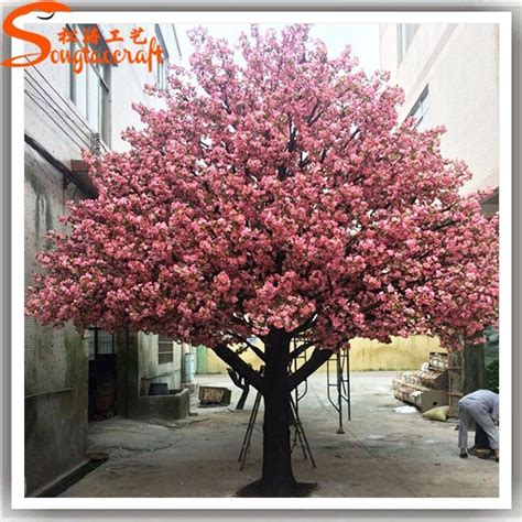 large outdoor lighted cherry blossom trees large