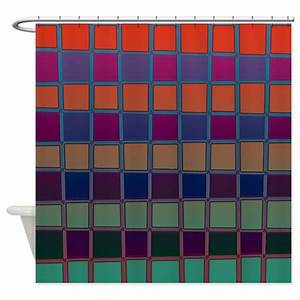 Color Neon Shower Curtain by CopperCreekDesignStudio
