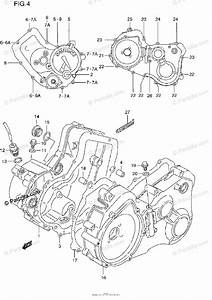 Suzuki Atv 1997 Oem Parts Diagram For Crankcase Cover