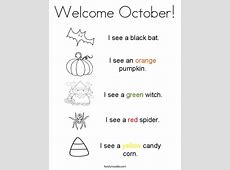 Welcome October Coloring Page Twisty Noodle