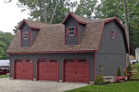 Car Garage by Detached 3 Car Garages Amish Built Island Baltimore