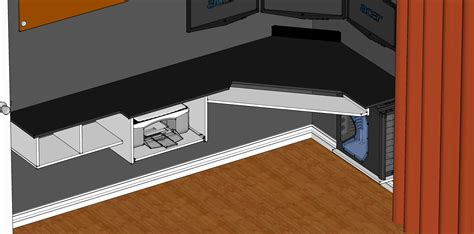 wall mounted corner desk plans  woodworking