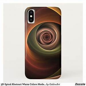 3d, Spiral, Abstract, Warm, Colors, Modern, Fractal, Art, Case