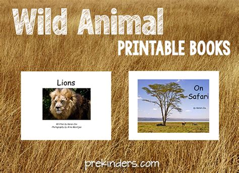 safari theme prekinders 458 | wild animal printable books