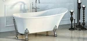 Baignoire Ilot Contre Mur : baignoire lot design rectangulaire ou ovale ~ Nature-et-papiers.com Idées de Décoration