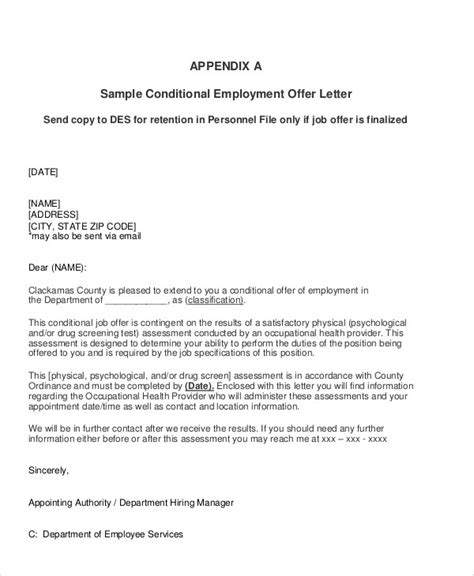 sample job appointment letter  examples  word