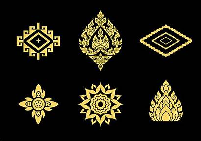 Thai Vector Pattern Graphic Patterns Temple Graphics