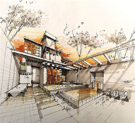 197 Best Architectural Sketches Images On Pinterest