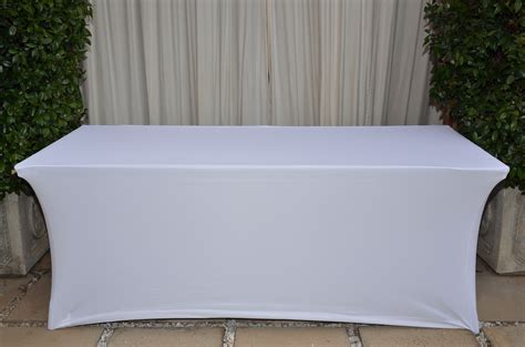 Tisch Mit Tischdecke by White Stretch Tablecloth The Tablecloth Hiring Company