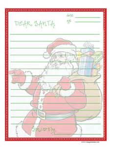 Printable Santa Christmas Wish List Letter